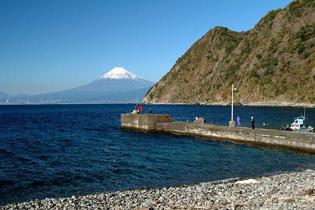エントリー口から見える富士山