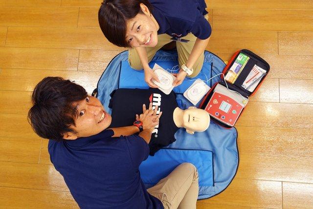 AEDを使用した救命救急法