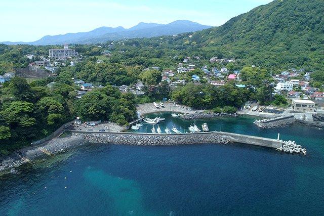 上空からの富戸港