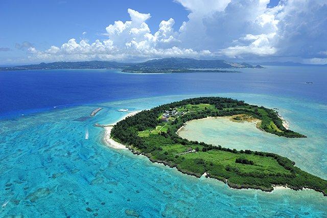 上空からの水納島