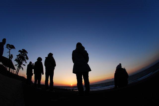 島の夕日も格別