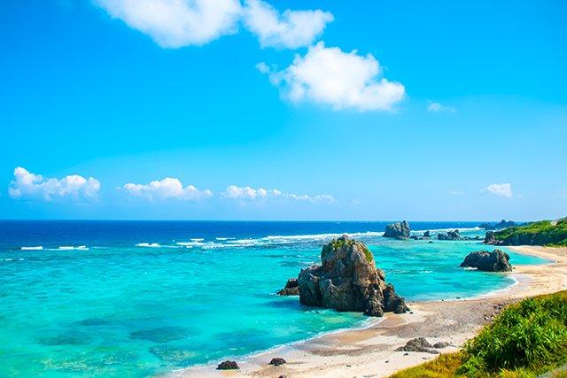 伊平屋島のビーチ