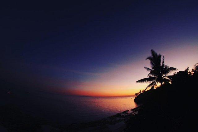 夕焼けの空の美しいこと