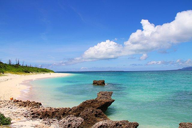 黒島のビーチ