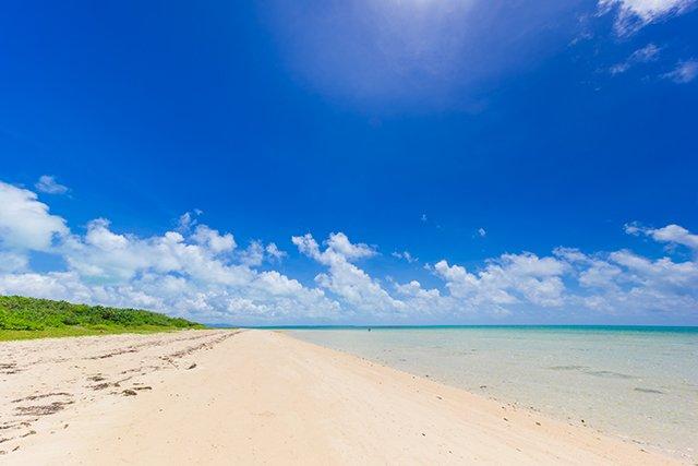 小浜島のビーチ