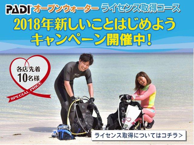 ダイビングライセンス取得キャンペーン開催中!