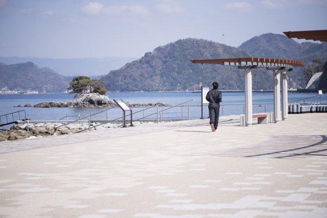 整った平沢のビーチ