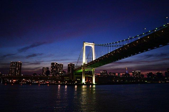 レインボーブリッジと夜景