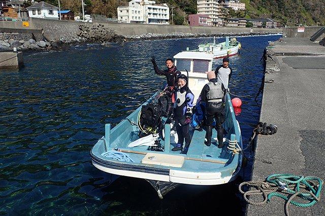 北川のボート