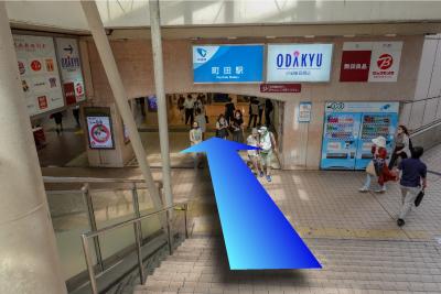 小田急線改札方面へ向かいます。