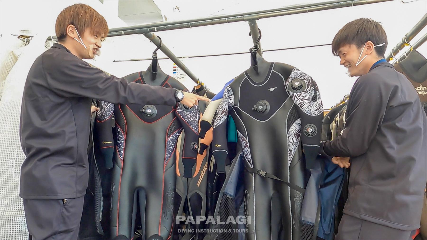 twins DRYスーツで冬の海に潜る⑤