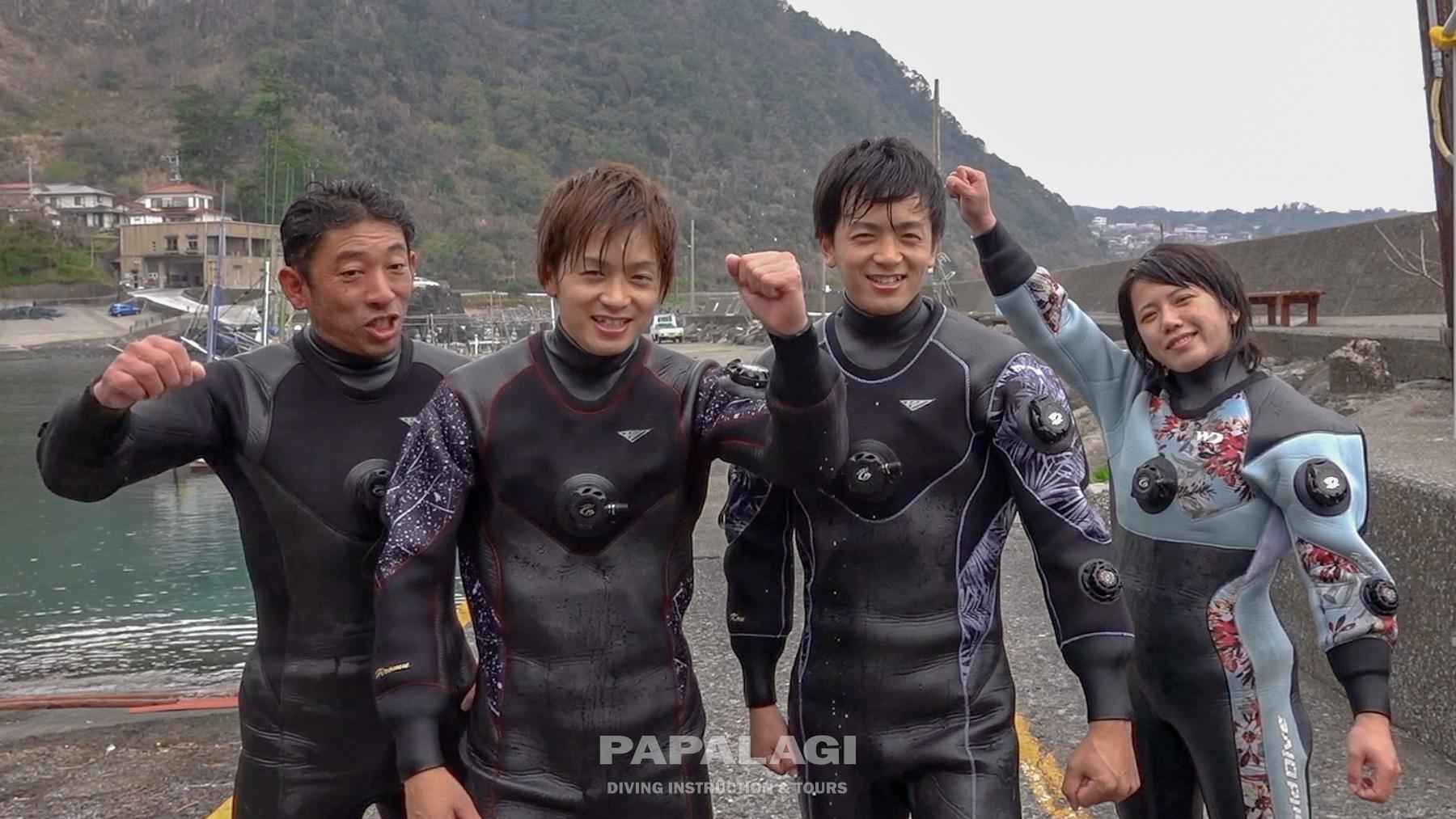 twins DRYスーツで冬の海に潜る⑪