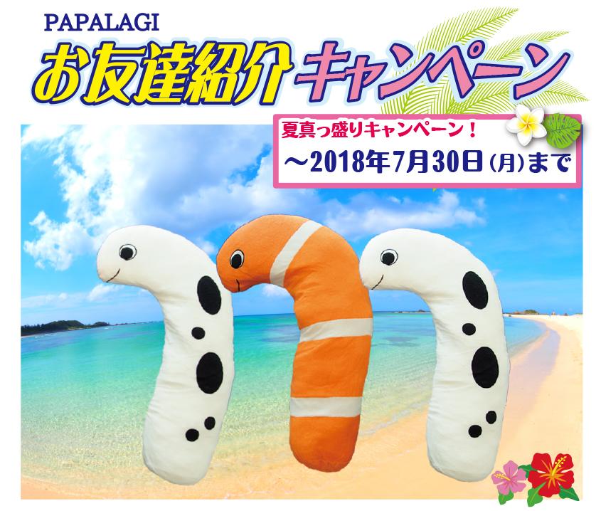 お友達紹介キャンペーン ご紹介いただいた方に、「チンアナゴ抱き枕」をプレゼント!
